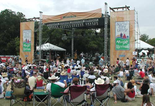 Wide shot of  South Austin Jug Band