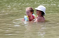 Nana and Lucy in River 2013