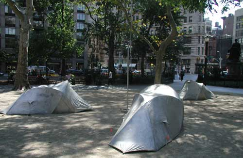 Madison Square tents.