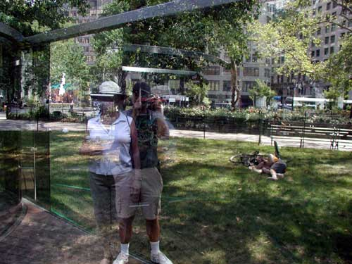 Another view of Ric & annie in the Mad. Sq. glass.
