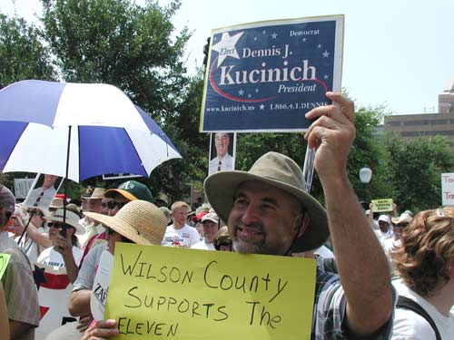 Kucinich supporter from Wilson County