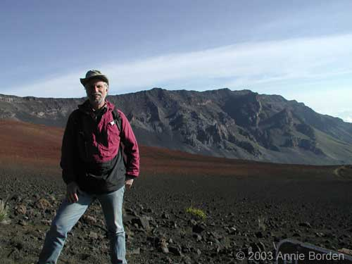 Ric in volcano crater