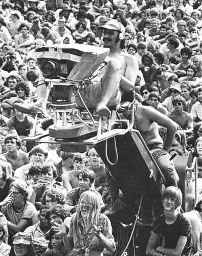 Ric on crane at Woodstock
