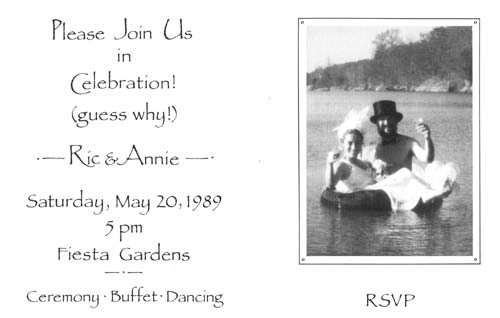 Ric & Annie wedding invitation
